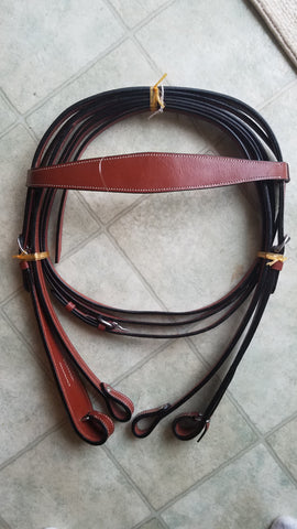 Chic Brown Woven Western Headstall