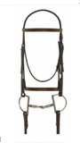 AAA Brown Dressage English Bridle with fine stitching on brow band