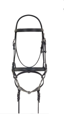 AAA Black leather Browband English Bridle