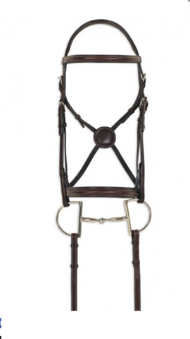 Black Comfort English Bridle leather