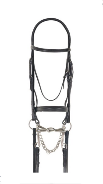AAA Broad Band English Bridle Black