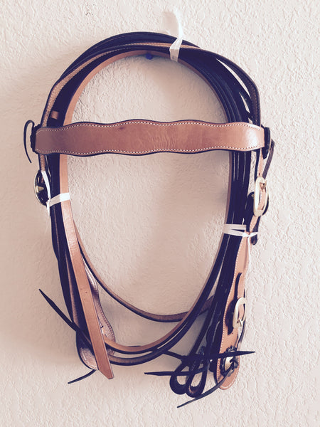 Classic Golden Clip Western Headstall
