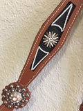 AA Navajo beaded Brown breast collar