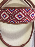 Z Beaded pink & white Western Tack Set Headstall & Breast Collar