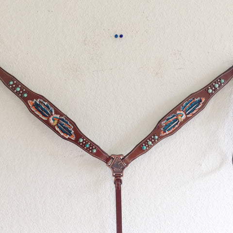 AA Native American Western breast collar