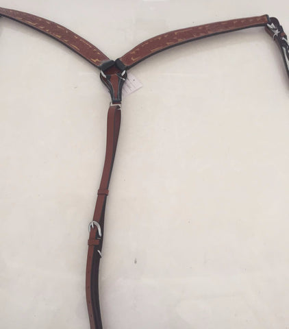 Brown and Sandstone Colored Western Breast Collar