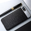 Luxury Leather Metal Hybrid Back Cover Coque for iPhone