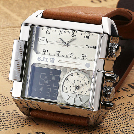 6.11 SQUARE WATCHES -MULTIPLE TIME ZONE