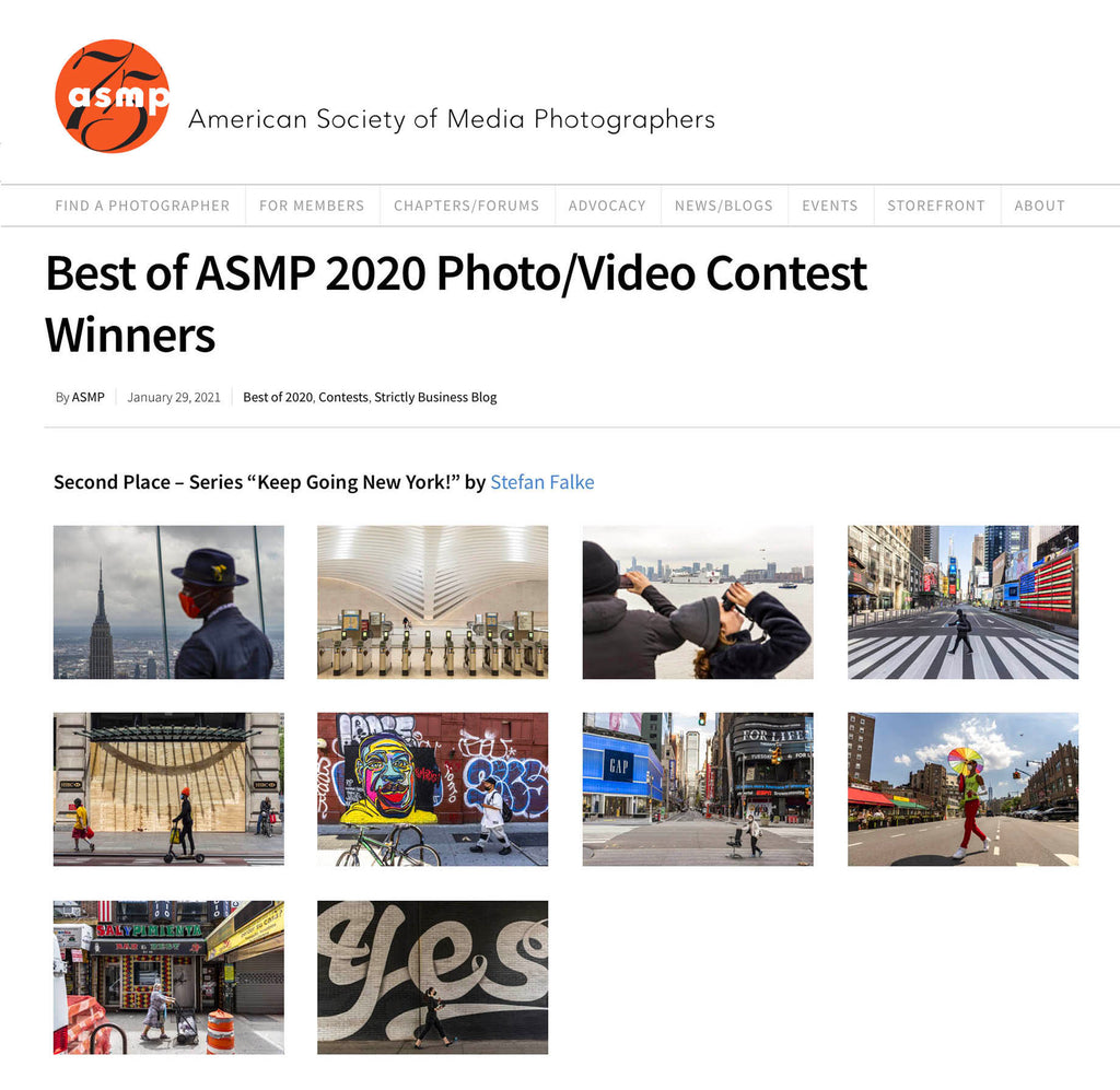 My Keep Going New York photos second place ASMP photo contest