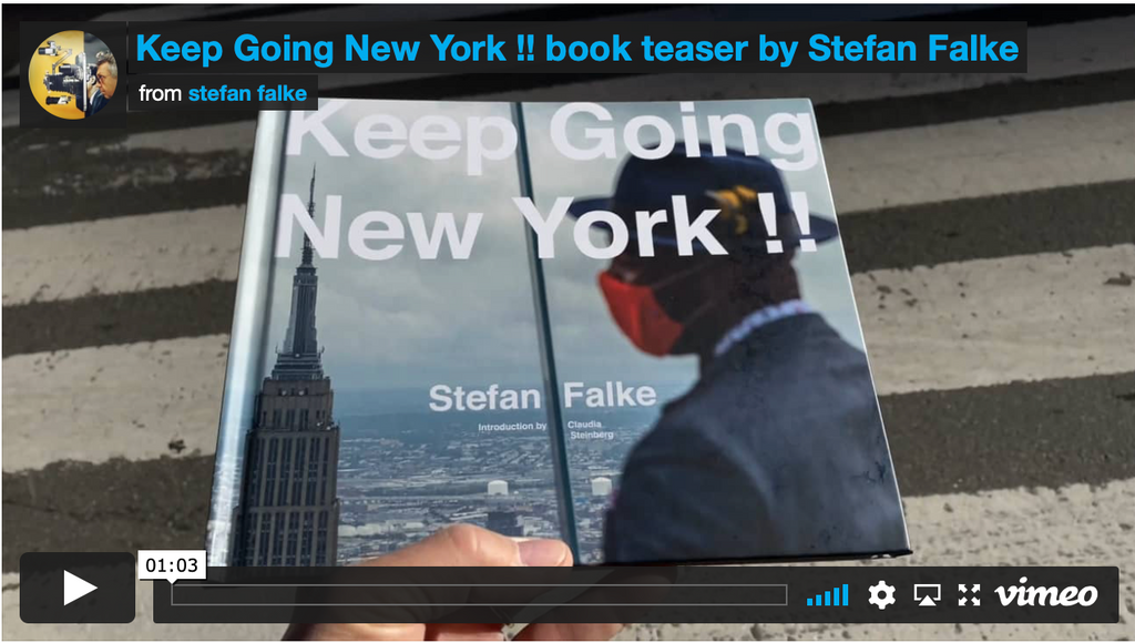Keep Going New York book video