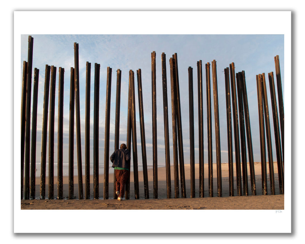 US-Mexico Border in Playas in Tijuana
