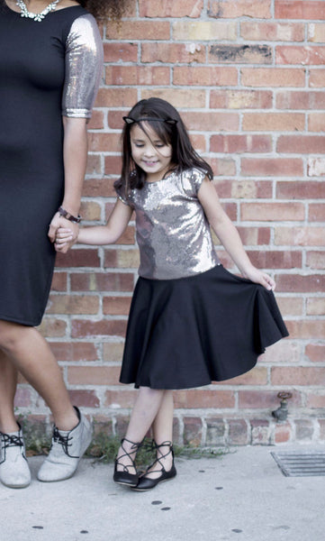 Black Sparkle Baby Twirl Dress