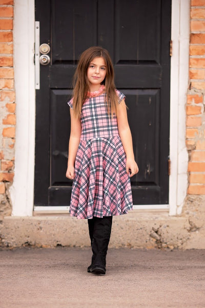 Pink Plaid Girl Reese Twirl