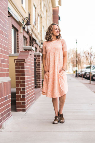 Peach Circles April Dress