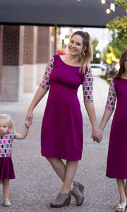 Fuchsia & Aztec Emaley Dress