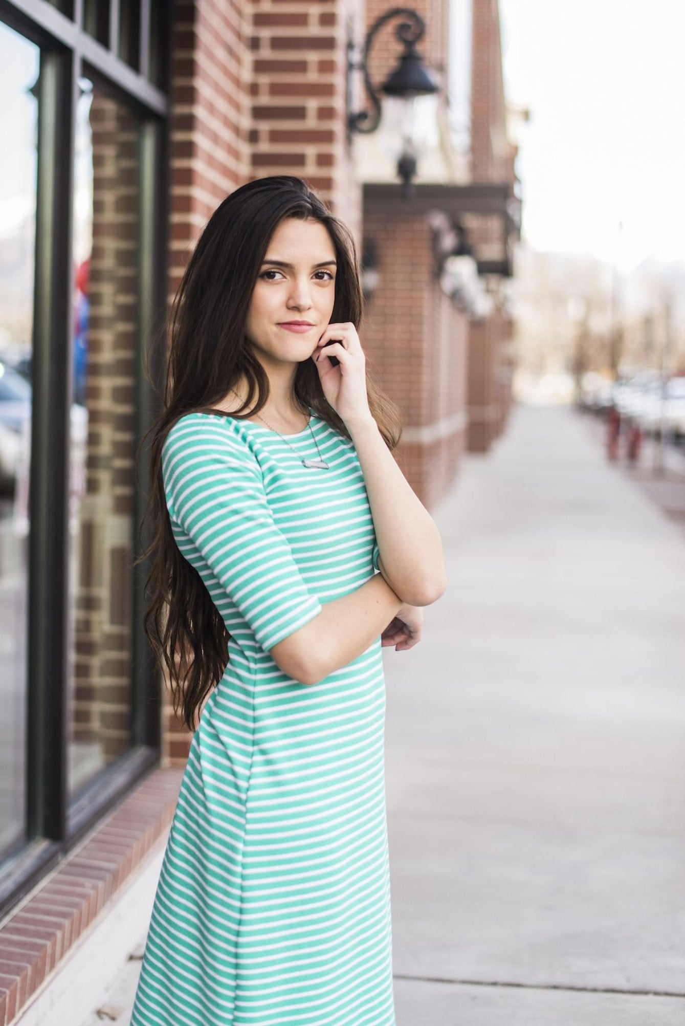 Tiffany Stripe Emaley Dress