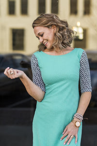 Emaley Dress Mint Geo