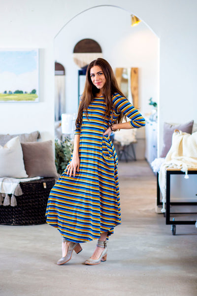 Jessi Dress Ernie Stripe Ribbed