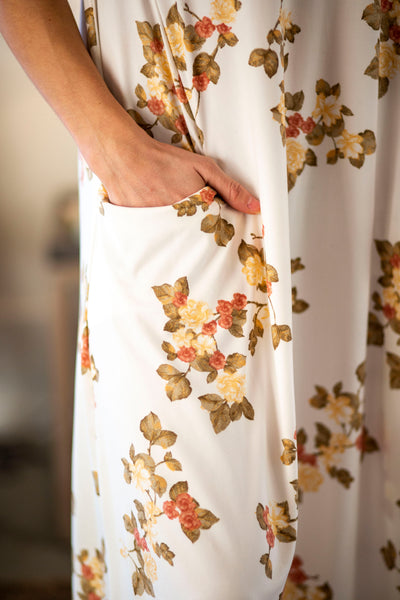 Jessi Dress White Prairie Floral