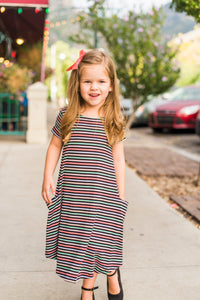 Black & Pastel Stripe Mini April