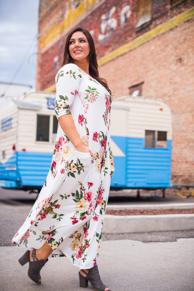 White Floral Jessi Dress