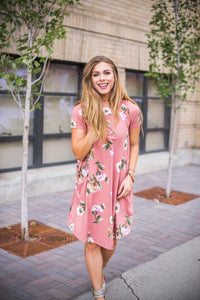 Blush Floral April Dress