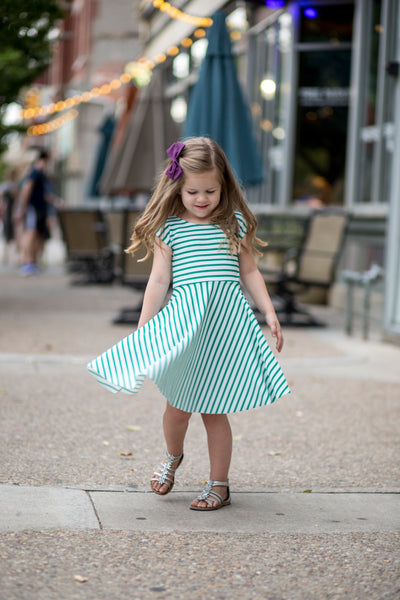 Green Stripe Girl Reese Twirl