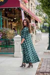 Green Plaid Jessi Dress