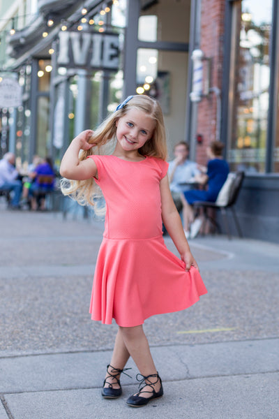 Coral Girl Twirl Dress