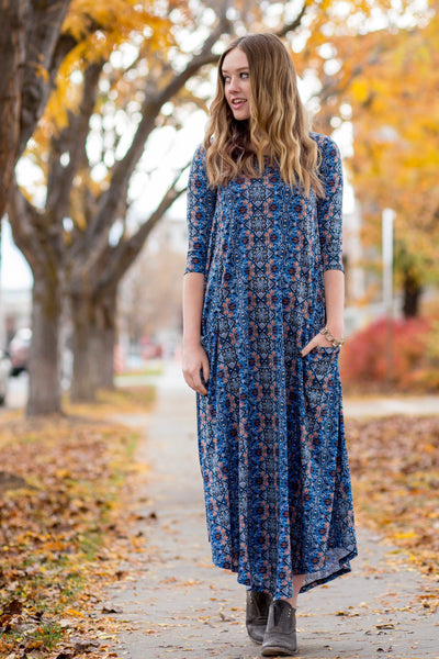Blue Aztec Jessi Dress