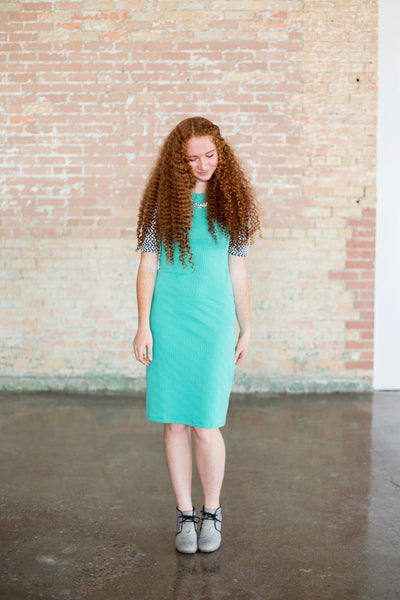 Mint Geo Emaley Dress