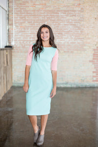 Tiffany Stripe & Peach Emaley Dress