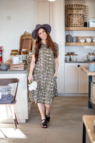 April Dress Urban Olive