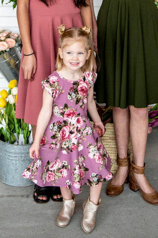 Reese Twirl Mauve Floral