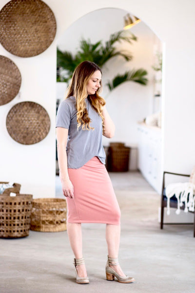 Pencil Skirt Blush