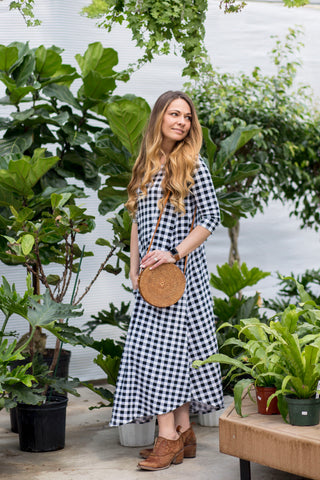 Jessi Dress Buffalo Check