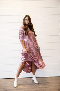 Jessi Dress Blush Tie Dye