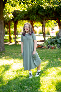 Light Olive April Dress