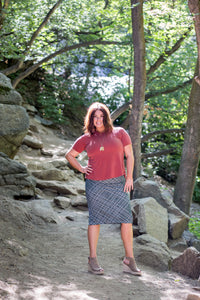 Pencil Skirt Green Tweed