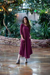 Jessi Dress Maroon Eternity