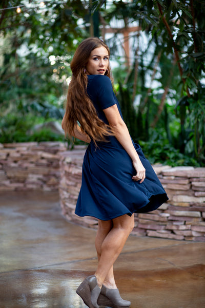 April Dress Navy