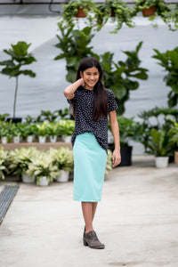 Pencil Skirt Mint