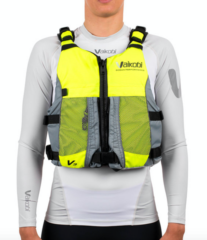 NEW - V3 Ocean Racing PFD- Fluro Yellow/Grey