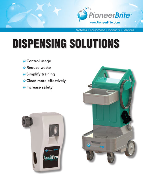 Dispensing equipment by Pioneer brite