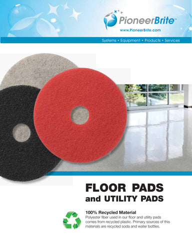 Floor Pads And Utility Pads For Floor Finishing By Pioneer Brite, Inc.