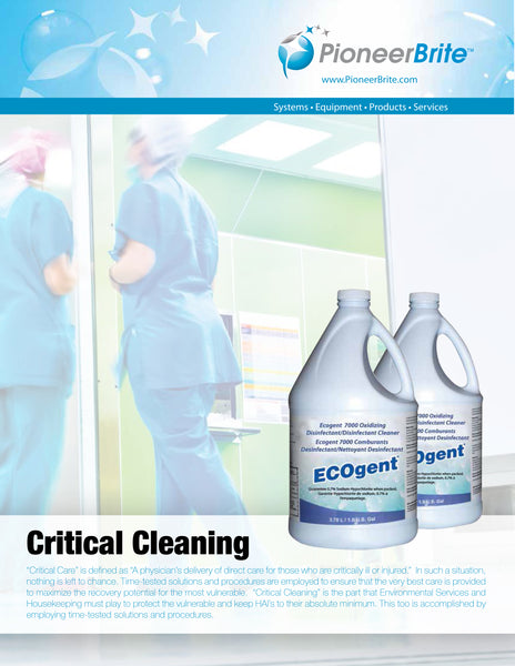 ecogent critical cleaning with pioneer brite, inc.
