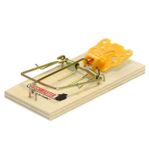 121425 - MOUSE SIZE  WOOD TRAPS, (MECHANICAL), 2 Pkg. Shelf Display [master packed 18]