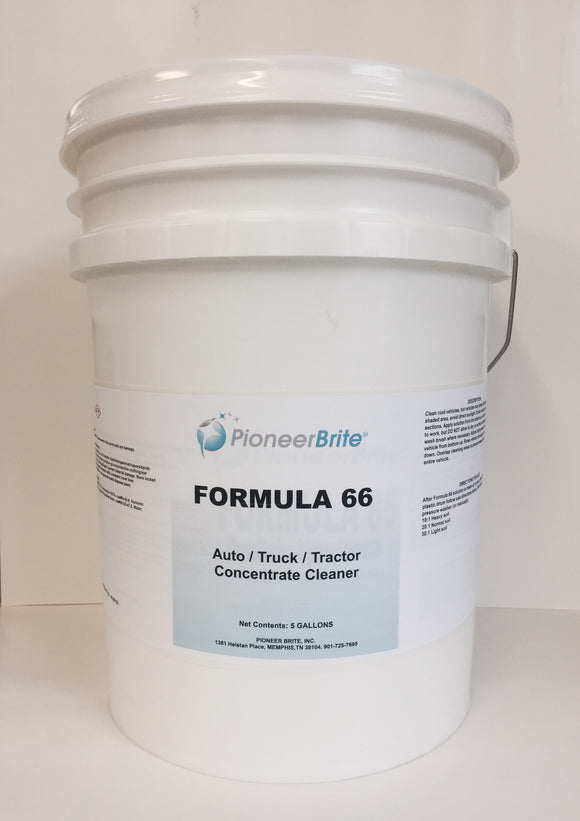 106162 - PIONEER BRITE FORMULA 66 TRUCK WASH CONCENTRATE, 5 gl. pail (Other sizes avail.)