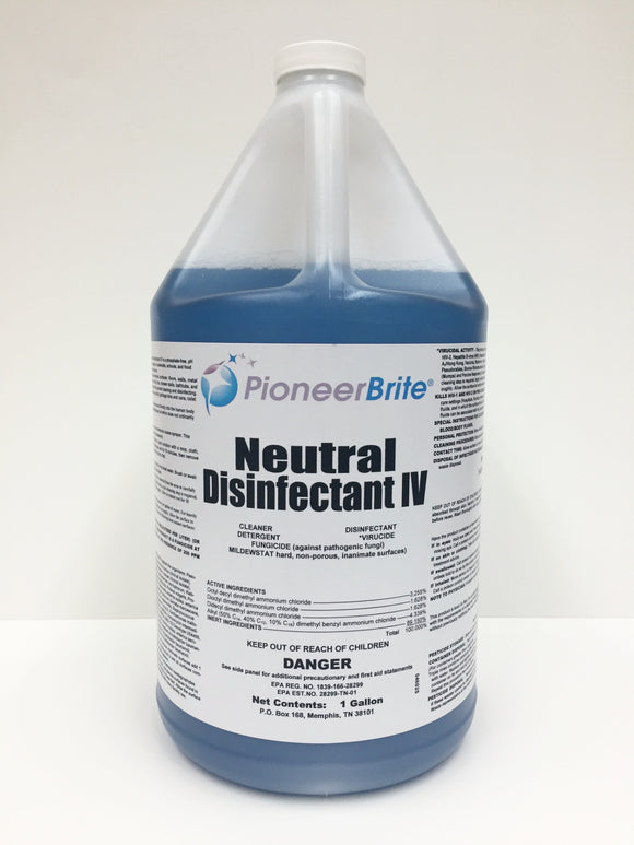 105041 - PIONEER BRITE Neutral Disinfectant IV 4x1 gallon