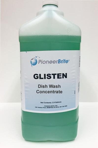 103889 - PIONEER BRITE GLISTEN, Dish Wash Concentrate, 2x2.5 gl. (other sizes avail.)